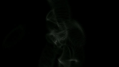 swirl grid web and smoke in darkness space Stock Video Footage