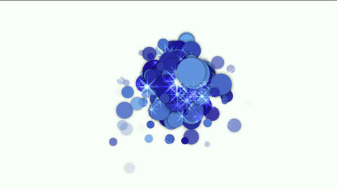 blue flare circle and bubble with stars underwater Stock Video Footage