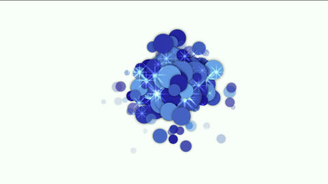 blue flare circle and bubble with stars underwater Animation