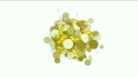 explosion circle and bubble with flare stars Stock Video Footage