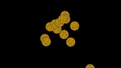 falling basketballs Animation
