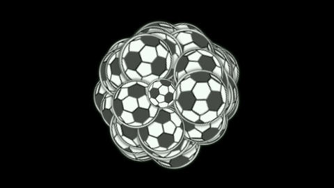 football,sports balls Stock Video Footage