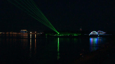 Laser Show on The Amur River Live Action