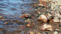 Waves on Pebble Shore Stock Video Footage