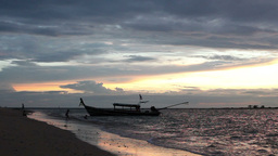 Sunset in Thailand Stock Video Footage