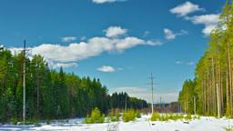 Winter Landscape Timelapse Stock Video Footage