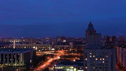 Night City Timelapse Stock Video Footage