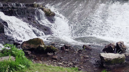 Small Waterfall Closeup Stock Video Footage