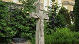 Stone Cross on Cemetary Footage