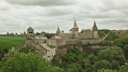 Kamianets-Podilskyi Castle Stock Video Footage