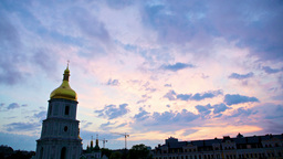 Saint Sophia Cathedral In Kiev, Timelapse Stock Video Footage