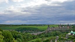Kamianets-Podilskyi Castle, Timelapse Stock Video Footage