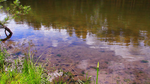 Pure water close up. Shot on Siberian river Stock Video Footage