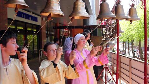Church bells 10 Stock Video Footage