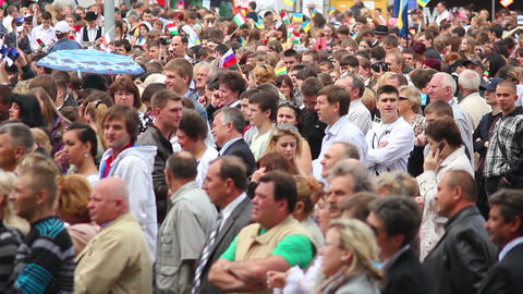 Crowd 4 Stock Video Footage