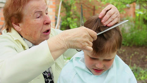 Haircut 6 Stock Video Footage