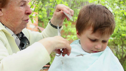 Haircut 8 Stock Video Footage