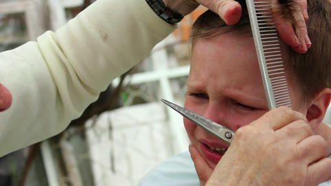 Haircut 14 Stock Video Footage