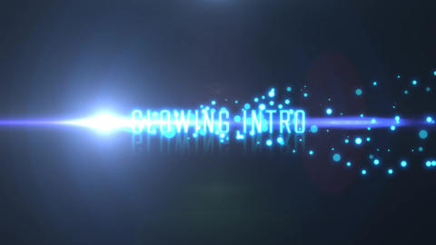 Glow Particle Light Streak Text Titles Transition Trailer After Effects Template