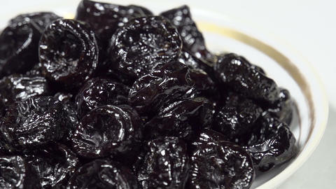 Dried Prunes in a Plate S HD Footage