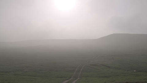 Morning Mist Floating Over The Hills HD stock footage