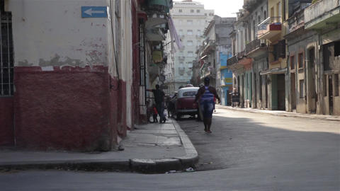 Scene of the streets of La Habana in Cuba. La Habana Vieja district Footage