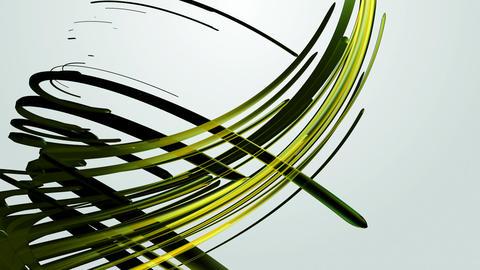 yellow green strokes