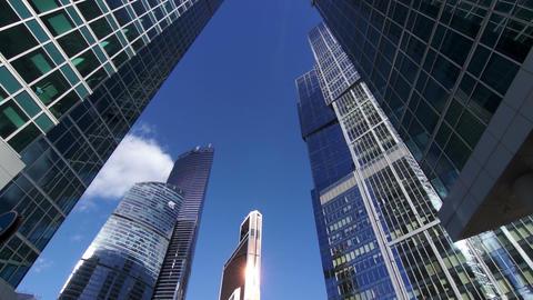 Skyscrapers, futuristic business center, timelapse Footage