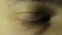 The Man's Eyes Close Up stock footage