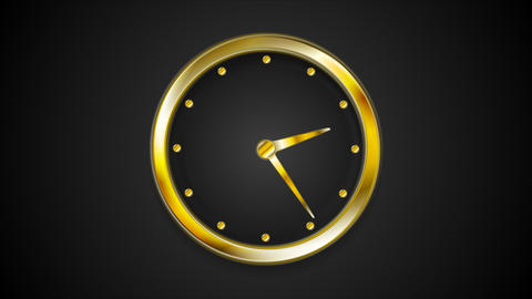 Abstract Moving Wall Clock Video Animation stock footage