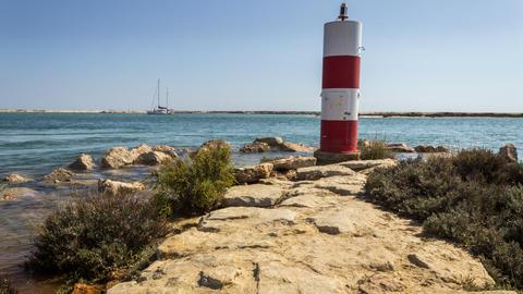 4 K Pan Timelapse Landscape Algarve Ria Formosa Footage
