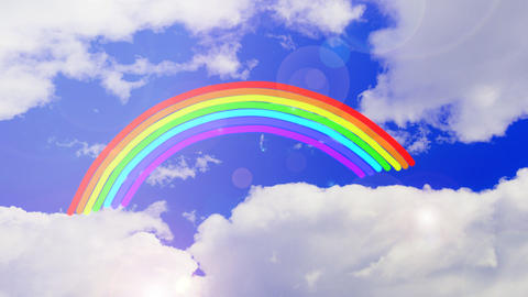 The movement of rainbows in the sky Animation