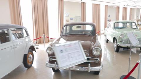 The old Soviet cars. Pyshma, Ekaterinburg, Russia Footage