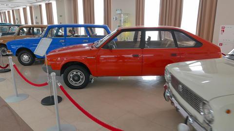Vintage Soviet cars. Pyshma, Ekaterinburg, Russia Footage
