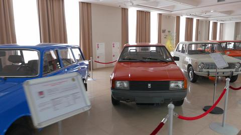 The Old Soviet Cars. Pyshma, Ekaterinburg, Russia. 4K stock footage