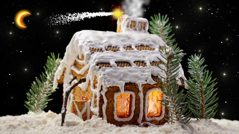 Christmas Gingerbread House stock footage