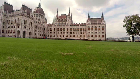 Hungarian Parliament In Budapest. 4K stock footage