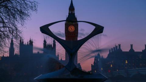 Big Ben Timelapse Dusk to Night Footage