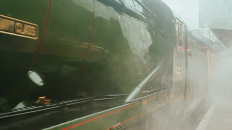Steam Train Morning Intro stock footage
