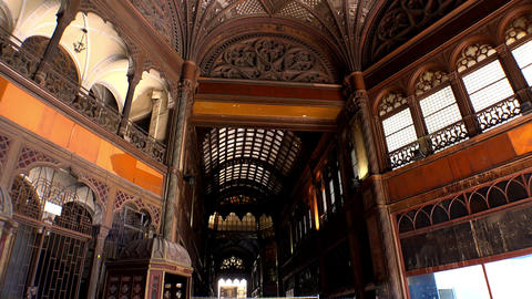 Ancient wooden arched ceiling. 4K Live Action