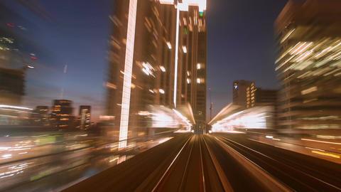 Nonstop POV Hyperlapse Night Train Journey In London UK stock footage