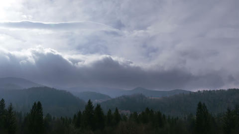 Dramatic Sky In The Mountains. Time Lapse stock footage
