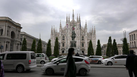 Cathedral Monument In Milan Milano Italy Italia Piazza Duomo Square Footage