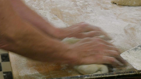 german bakery kneading a small bread 4k 11681 Footage
