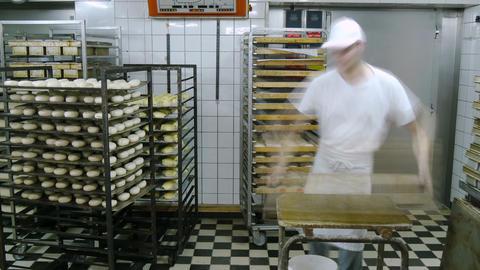 german baker working time lapse 4k 11683 Footage