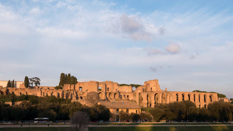 Ruins of the Palatine Hill is the centermost of the Seven Hills. TimeLapse, Rome Live Action