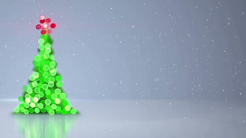 blurred christmas tree bokeh lights loopable background 4k (4096x2304) Animation