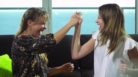 6 Women Talking Gossip And Whispering Secrets Footage