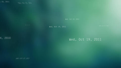 New year 2016 random dates on Green background Animation