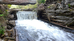Cascade From An Old Dam Abandoned 72b stock footage